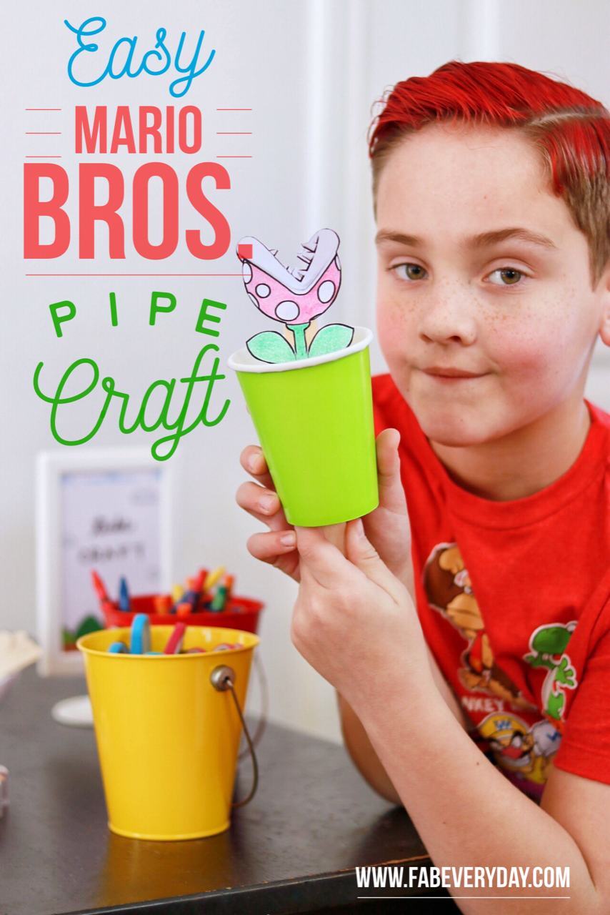 easy mario bros. pipe craft for kids