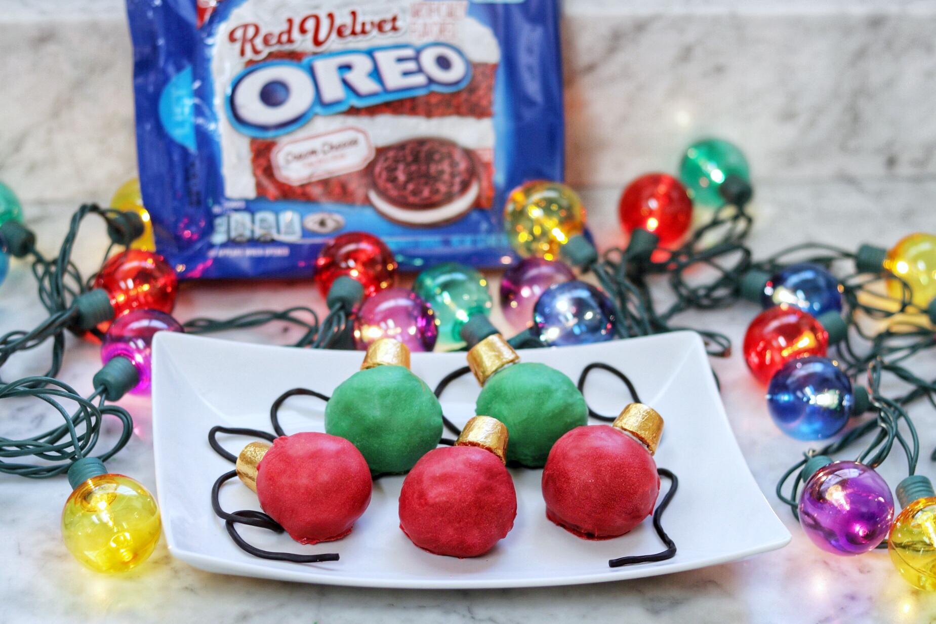 OREO cookie Christmas recipes: OREO Cookie Balls Christmas Lights