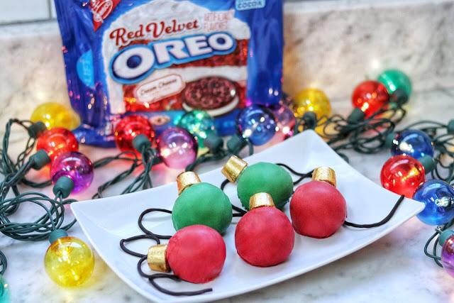 Christmas OREO cookie ideas: OREO Cookie Balls Christmas Lights