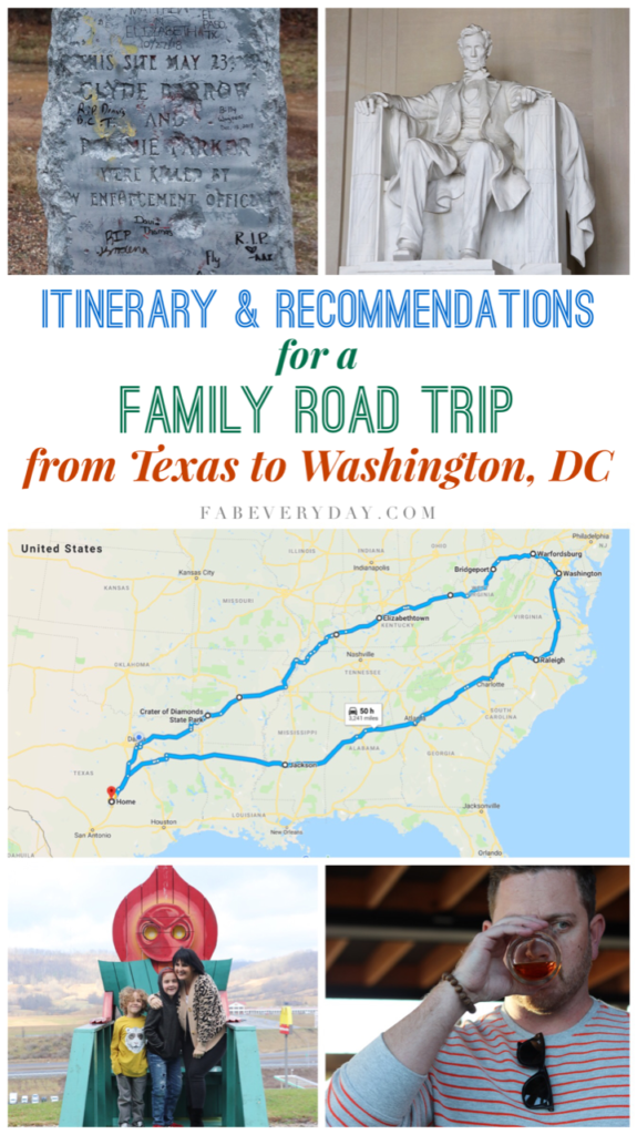 Itinerary and Recommendations for a Family Road Trip from Texas to Washington, DC