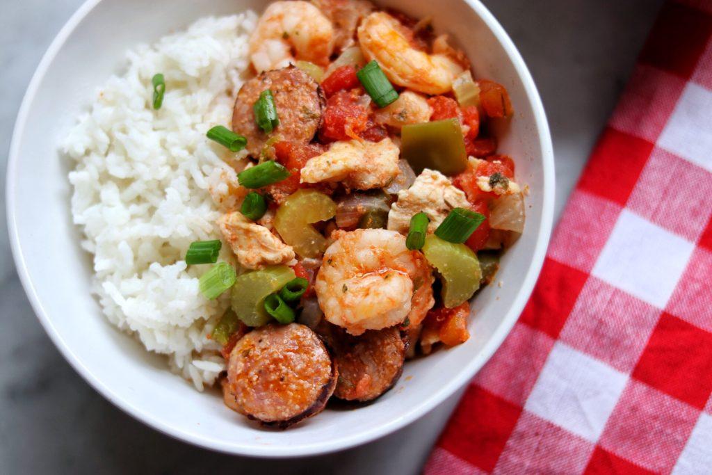 Instant Pot jambalaya with shrimp and chicken