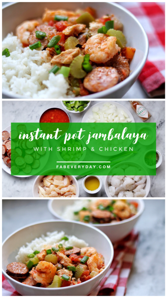 Instant Pot Jambalaya recipe with Shrimp and Chicken
