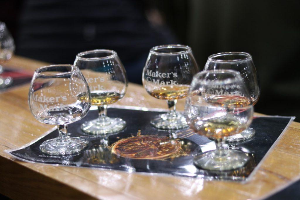 Whisky tasting at Maker's Mark Distillery in Kentucky