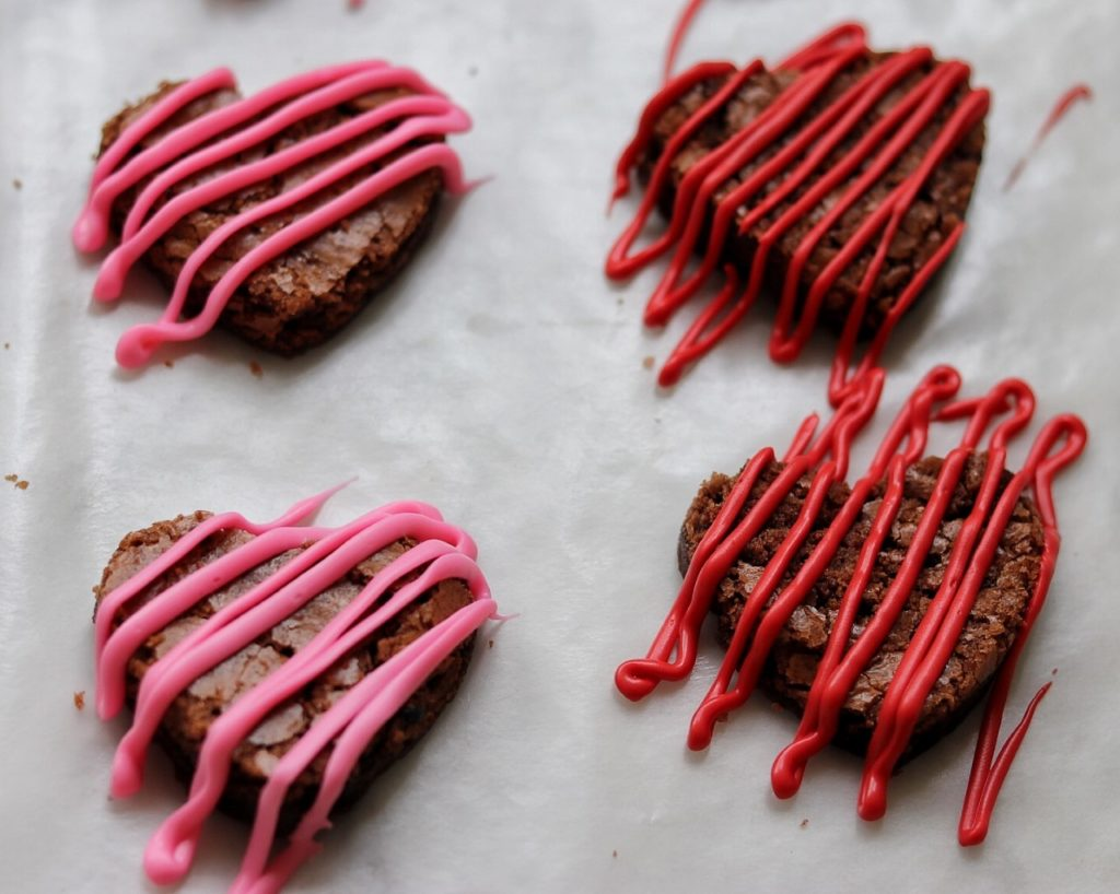 Easy brownie hearts recipe for Valentine's