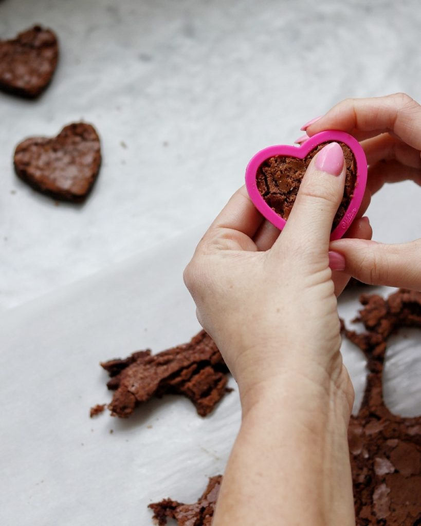 brownie hearts (Valentine's brownie bites)