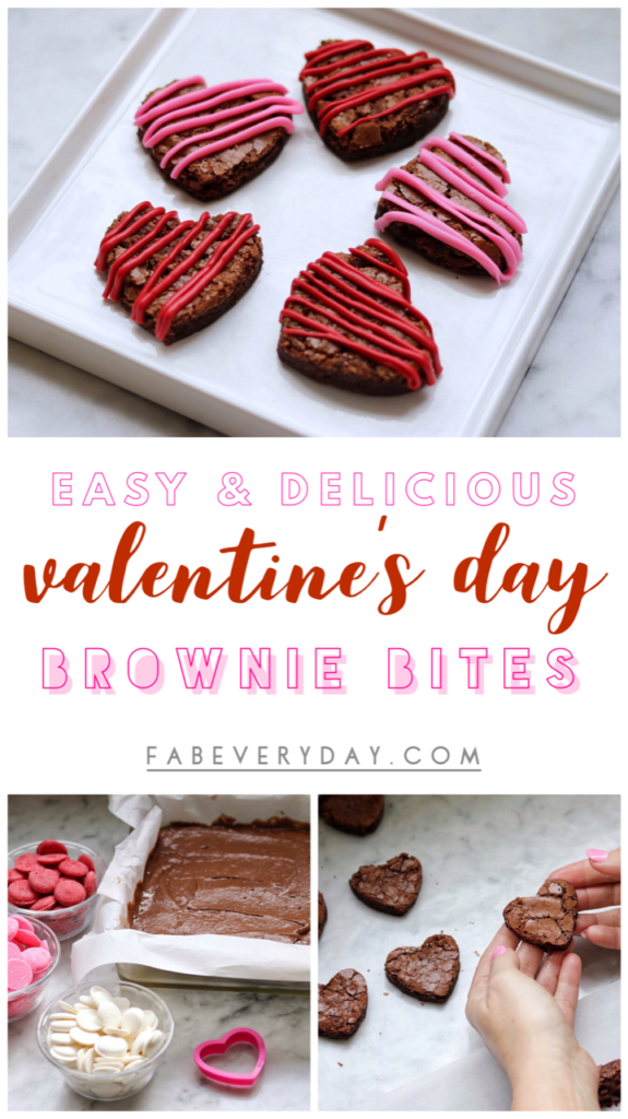 Brownie hearts: Easy Valentine's Day Brownie Bites recipe