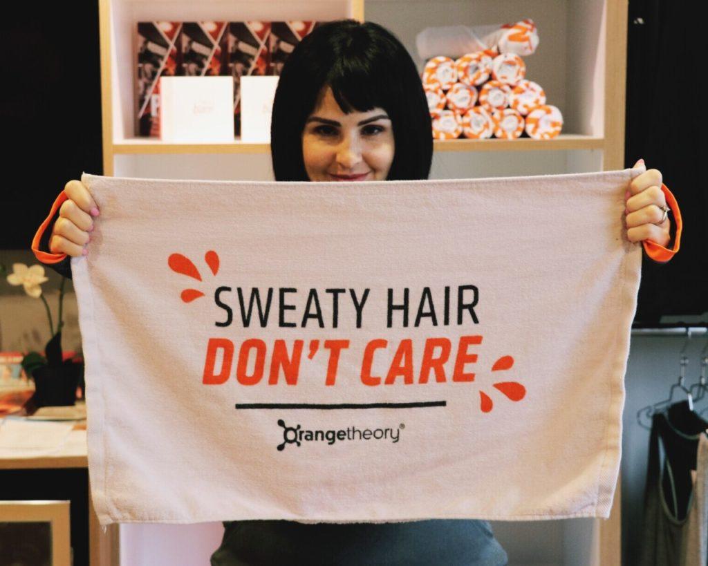 sweaty hair don't care at orangetheory fitness