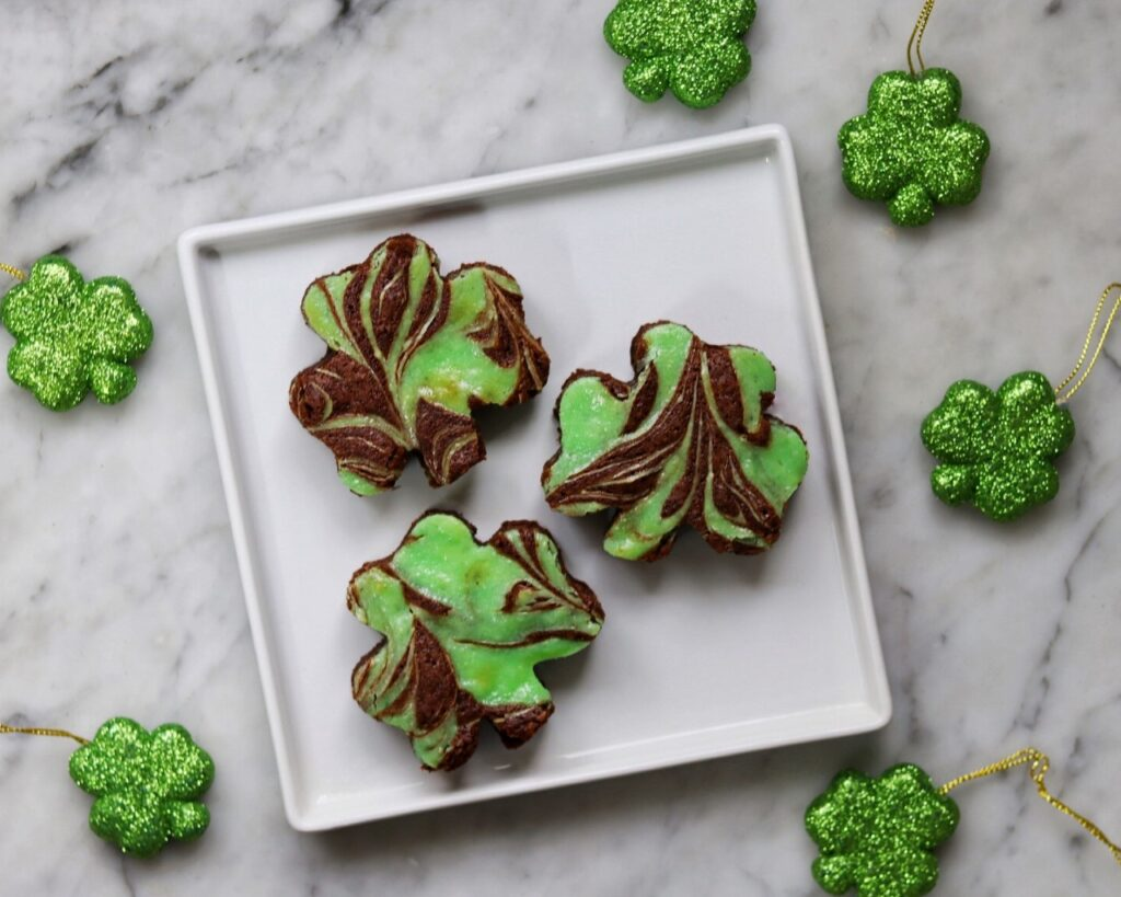 Shamrock brownies recipe