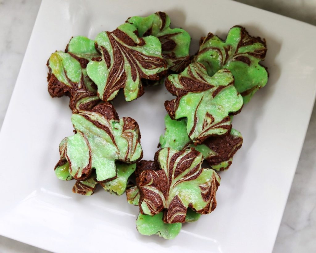 how to make shamrock brownies