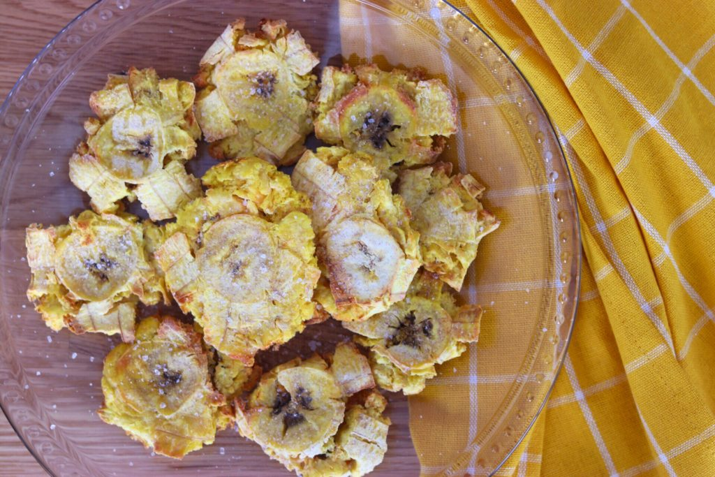 air fried plantain chips (tostones)