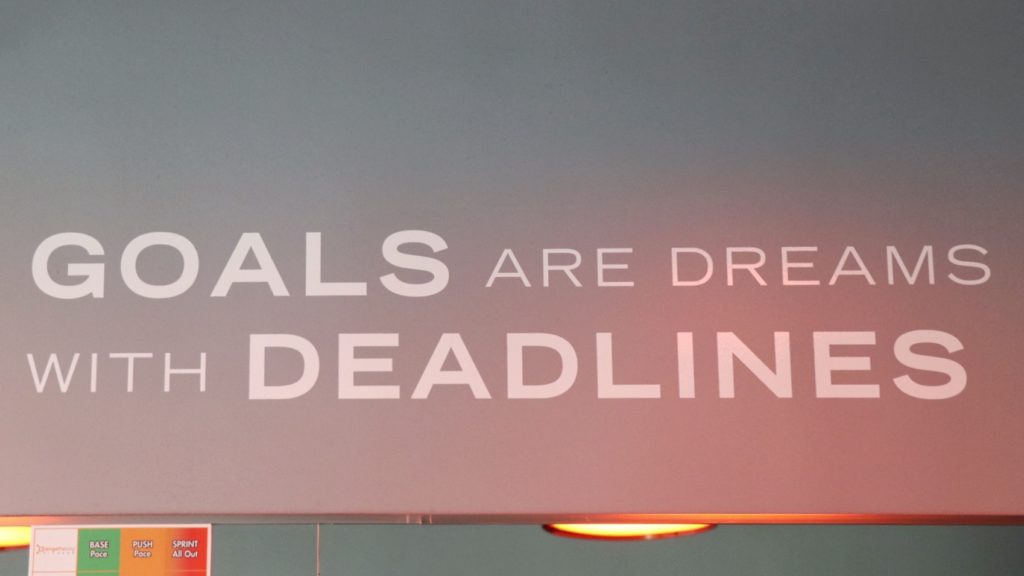 Workout motivation quote: goals are dreams with deadlines