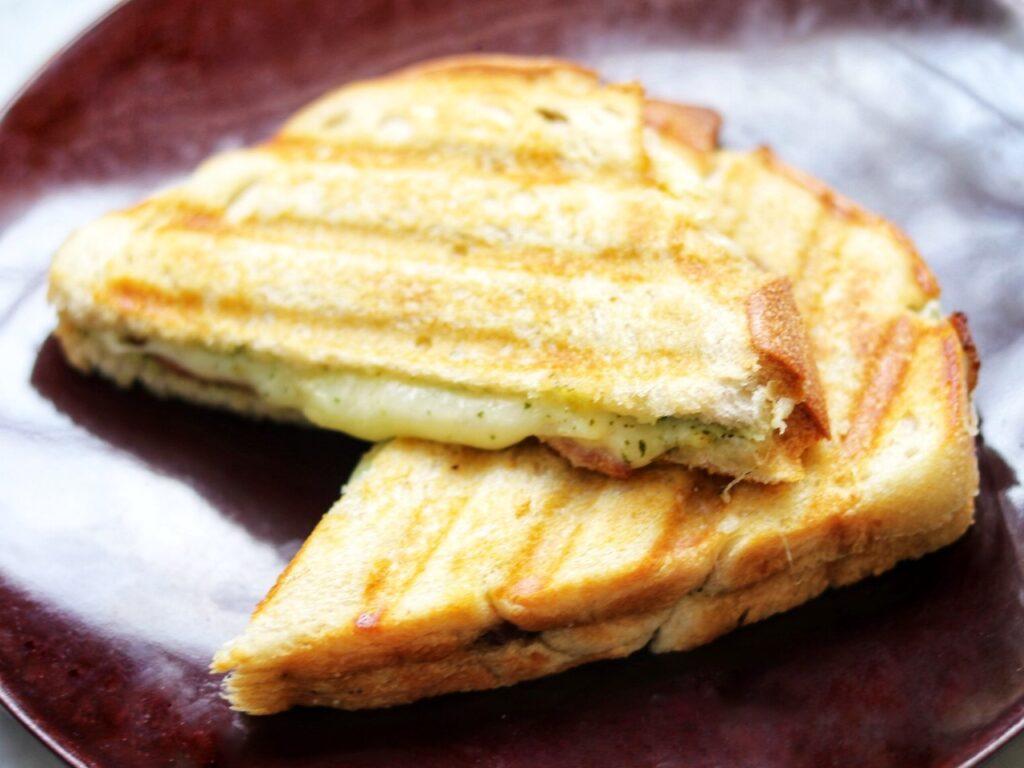 list of picnic food ideas: pear and bacon panini