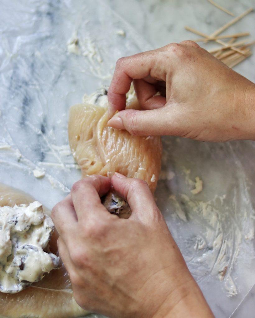 How to make stuffed keto chicken
