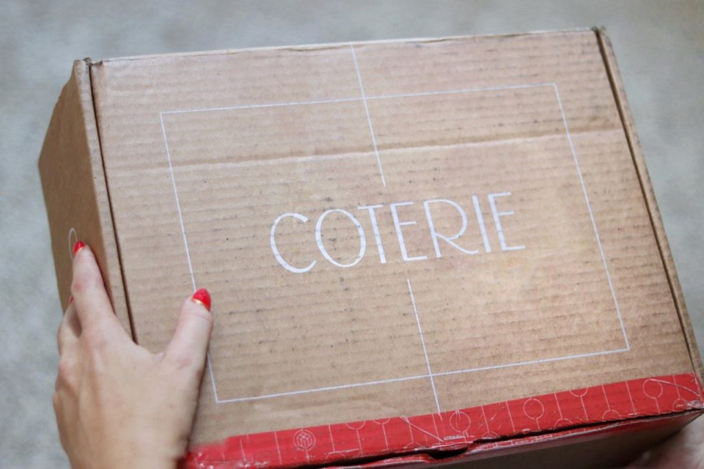 Coterie Party supplies in a box