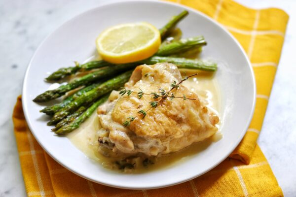Instant Pot® Keto Chicken Thighs in Lemon-Garlic Cream Sauce recipe