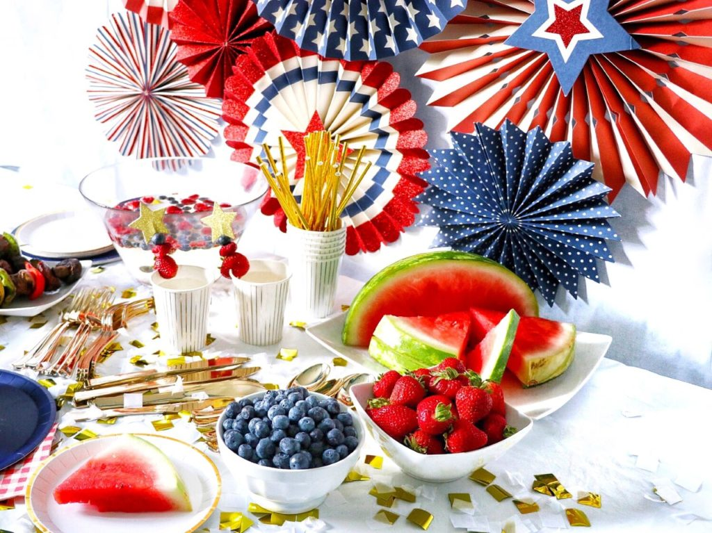 4th of July party decor and food supplies from Coterie