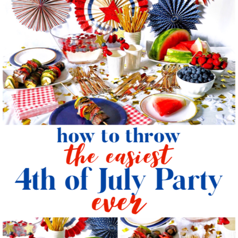 red white and blue decorations for 4th of July party