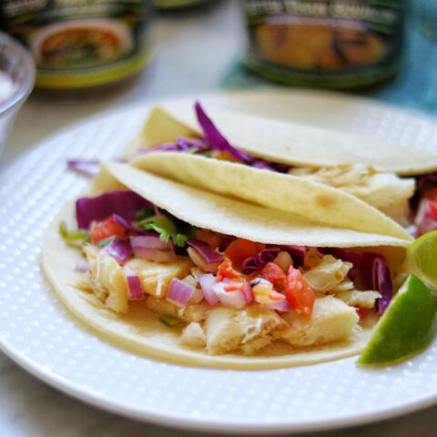 Garlic-Lime Grilled Fish Tacos recipe