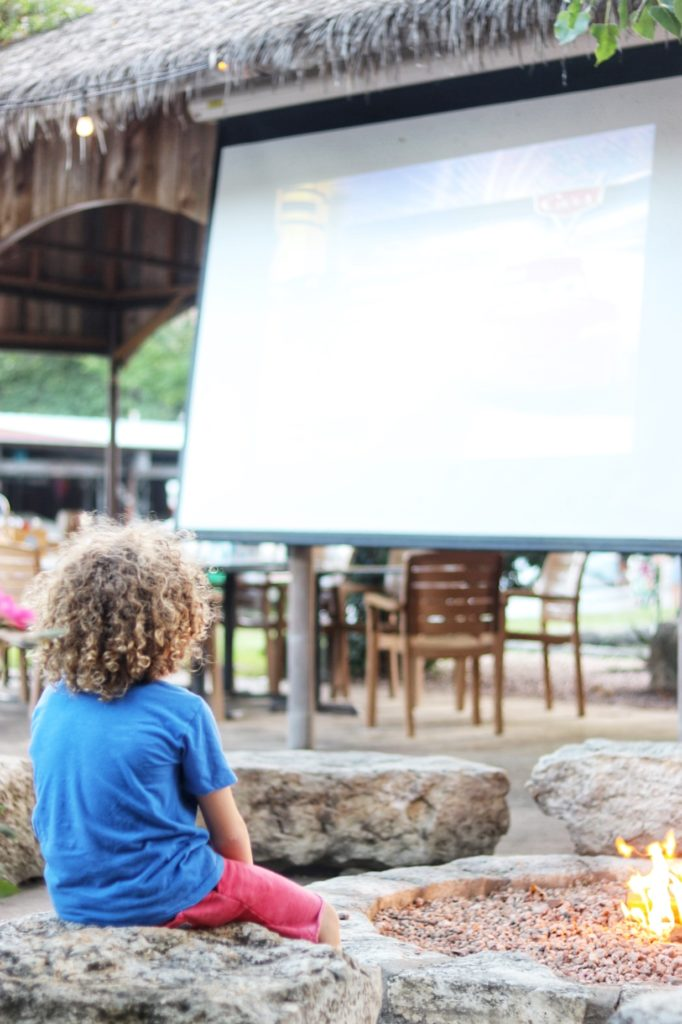 Free family movie night every Friday night at Ski Shores Cafe in Austin