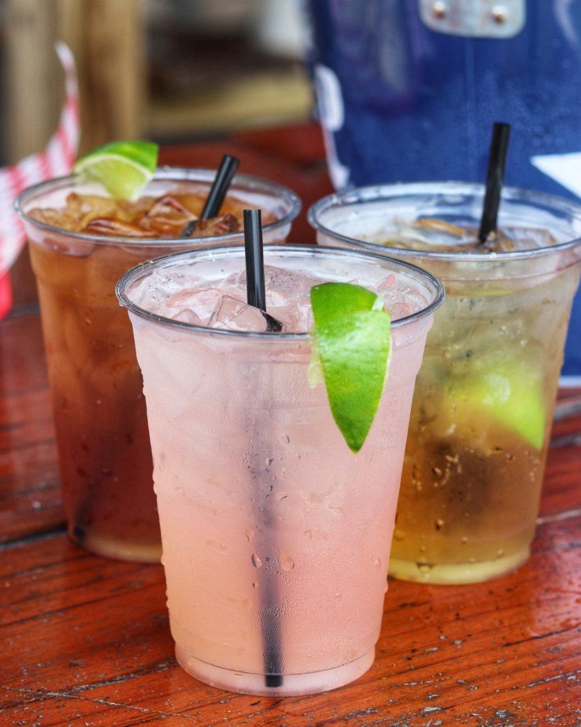 Signature cocktails at Ski Shores Cafe in Austin, TX