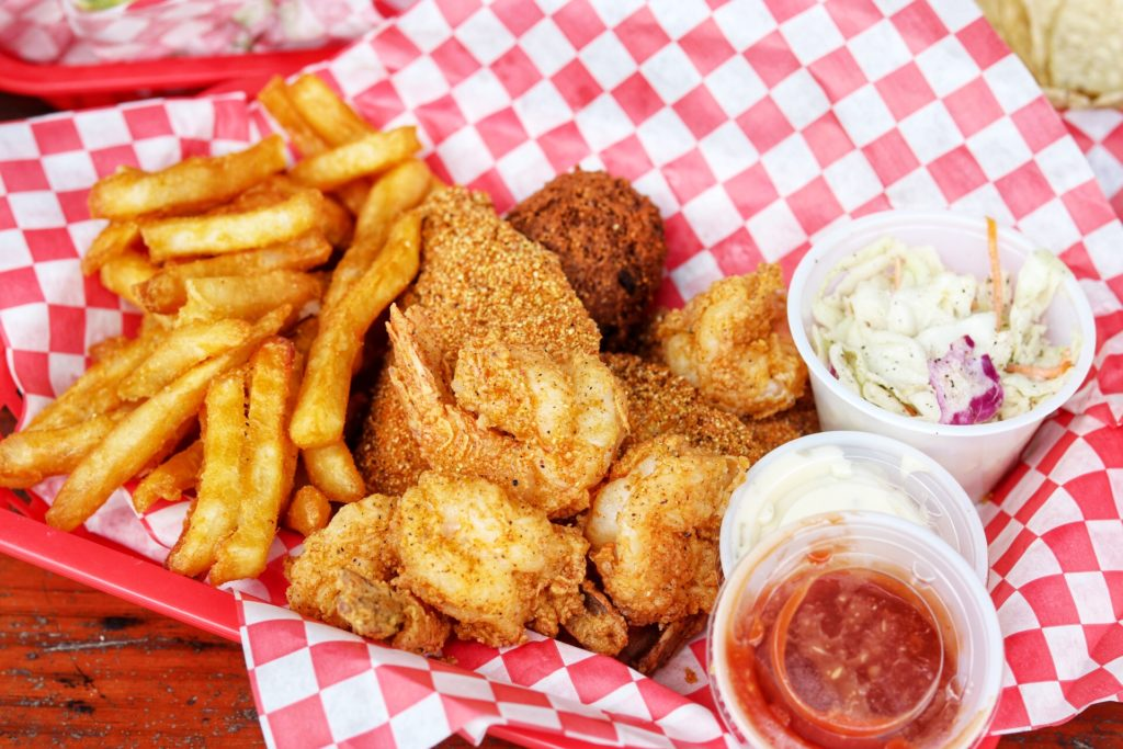 Combination Catfish and Shrimp Basket at Ski Shores, Café in Austin, TX