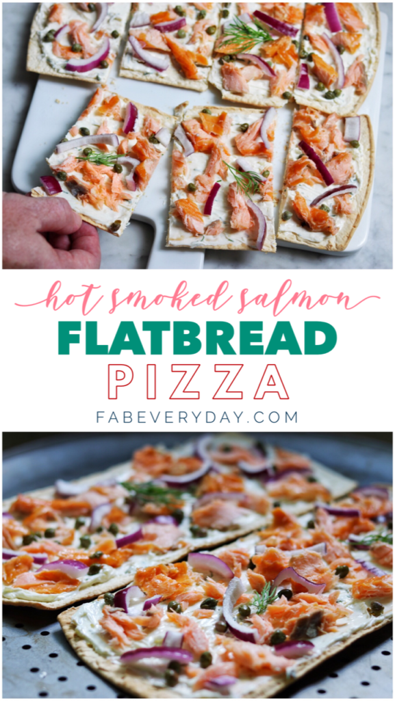Hot Smoked Salmon Flatbread Pizza recipe
