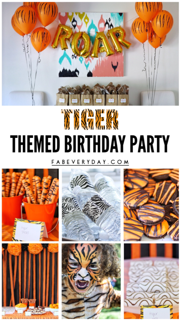 Tiger Themed Birthday Party Ideas