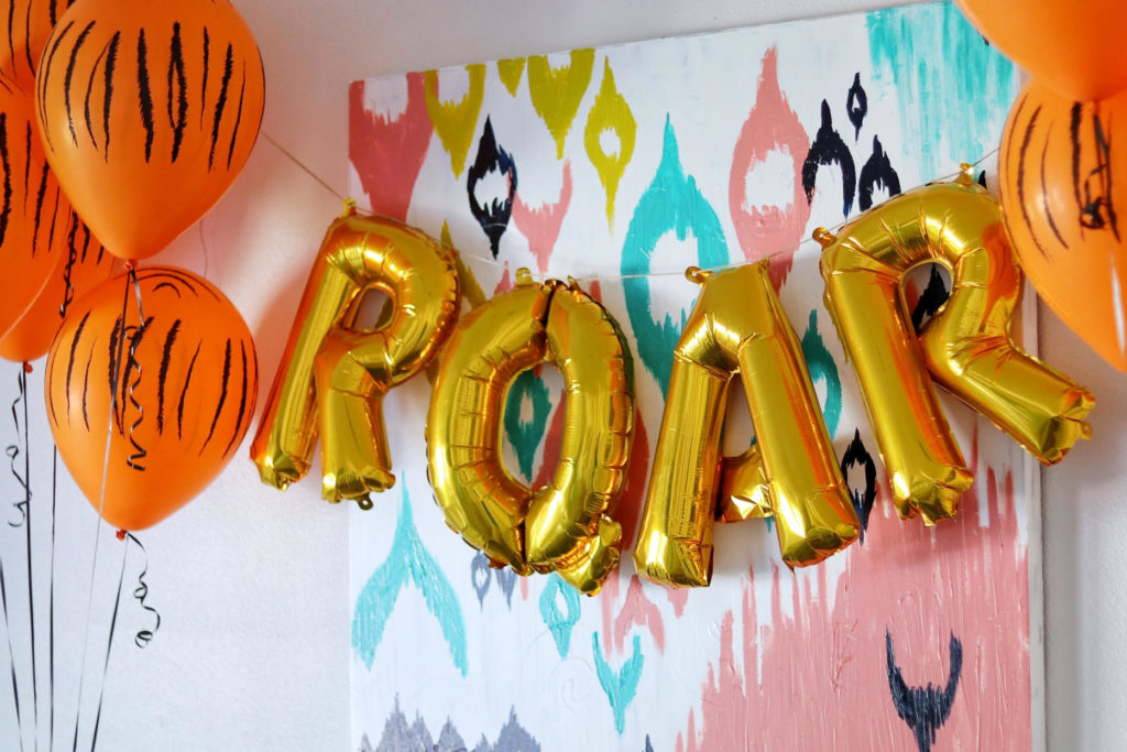 tiger birthday party decorations