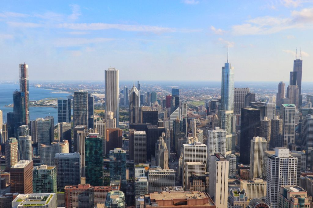 family activities in chicago: visit the 360 chicago observation deck on the 94th floor of the john hancock building
