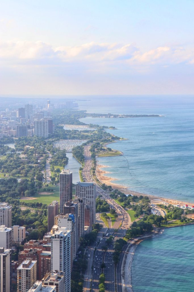 what to do in chicago with kids: check out the amazing views from the 94th floor of the 10th tallest building in the united states at 360 chicago.