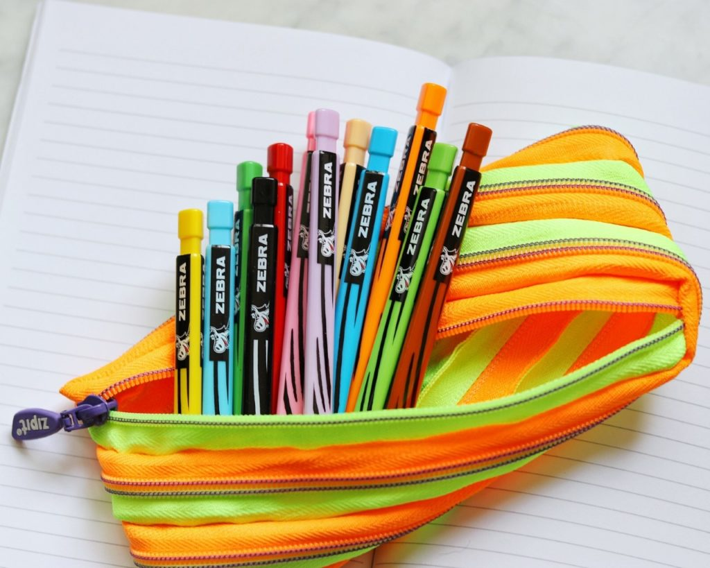 Zebra Cadoozles Starters Colored Mechanical Pencil, 2.0mm Point Size, Assorted Colors