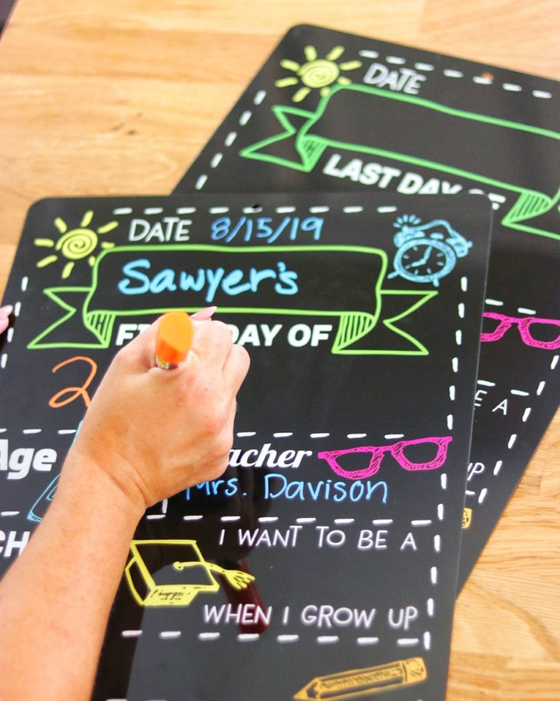 First and Last Day of School Chalkboard Style Photo Prop Sign
