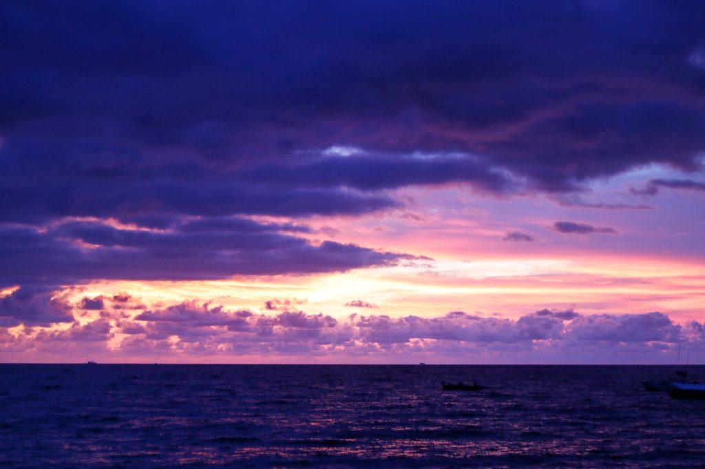 sunset at playa de los muertos in puerto vallarta