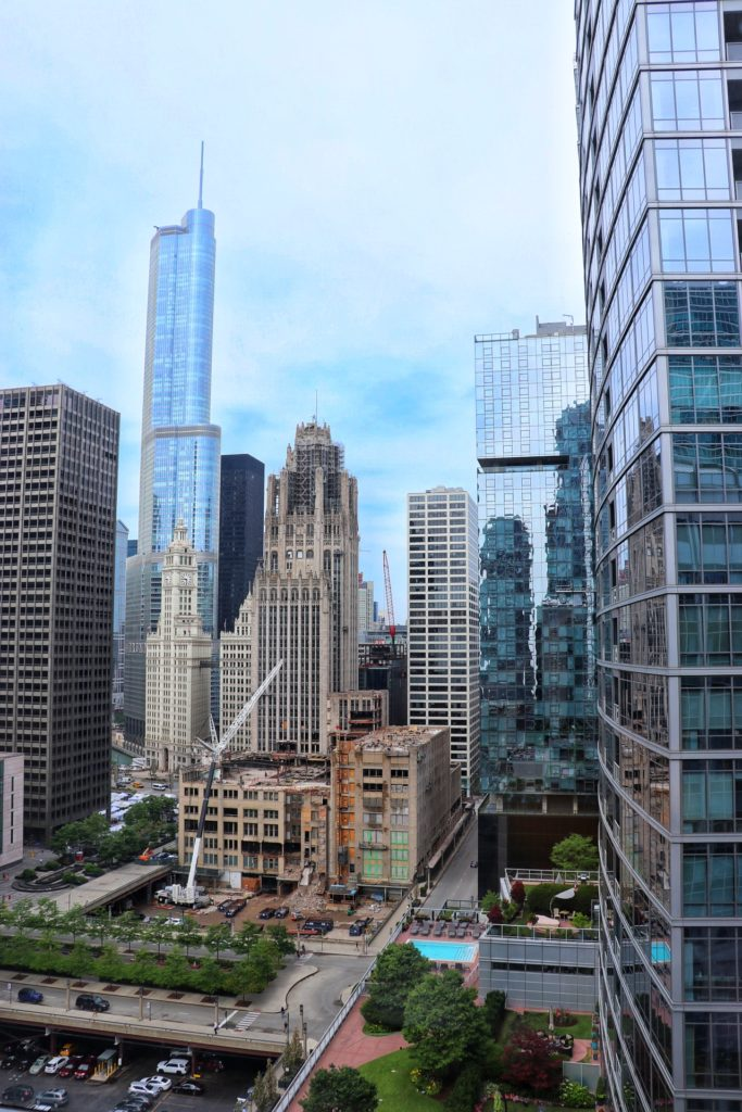 beautiful views of the chicago skyline at Embassy Suites by Hilton Chicago Downtown Magnificent Mile