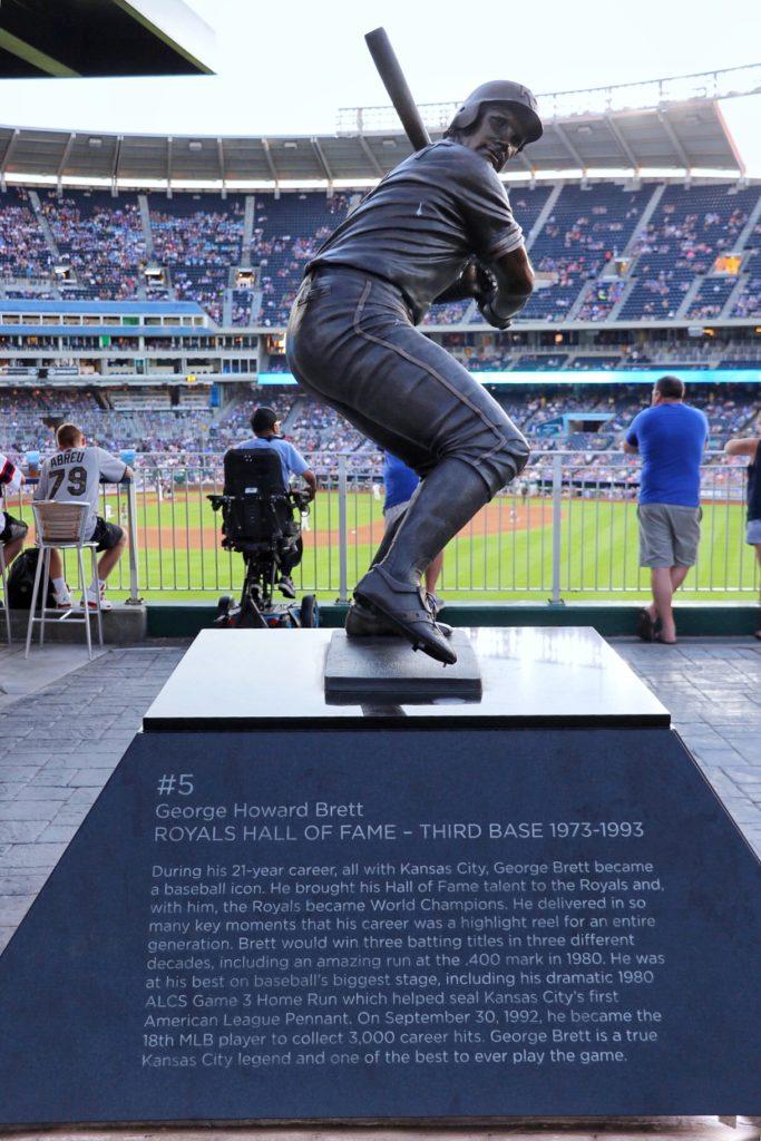 George Brett statue at Kauffman Stadium