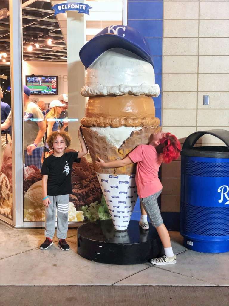 Ice cream shop in the Outfield Experience kid's area at the Royals' Kauffman Stadium