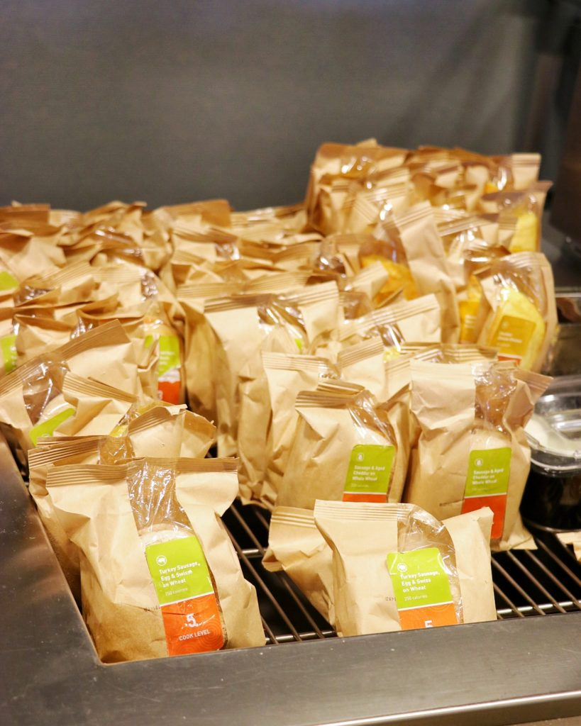 Home2 Suites Kansas City Downtown grab-and-go breakfast sandwich options