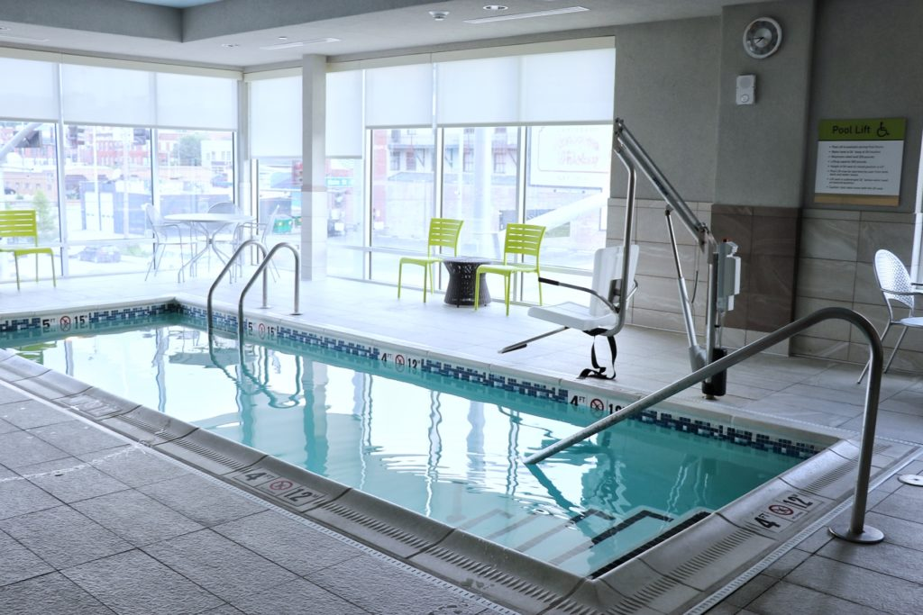 The pool at Home2 Suites Kansas City Downtown