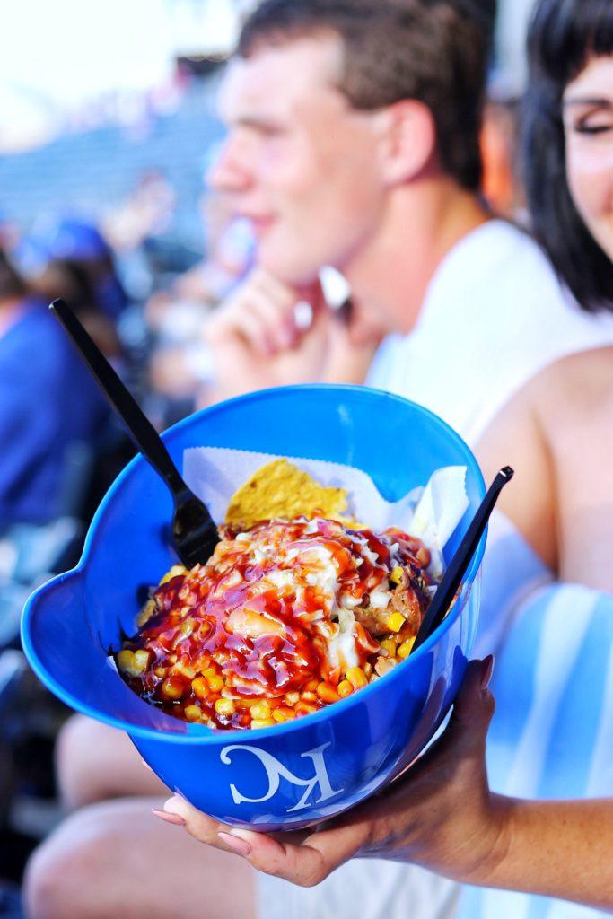 Cheesy Corn Brisket-Acho at Kauffman Stadium