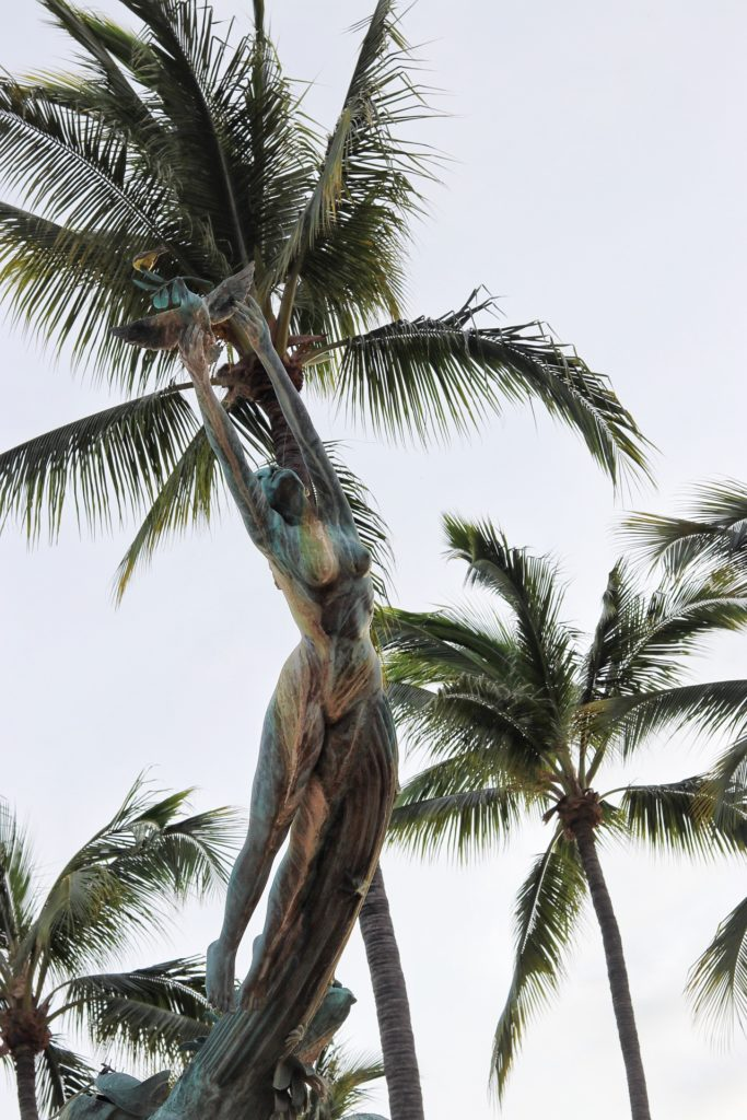 What to do in Puerto Vallarta for a girls getaway: Millennium sculpture at the Puerto Vallarta Malecón