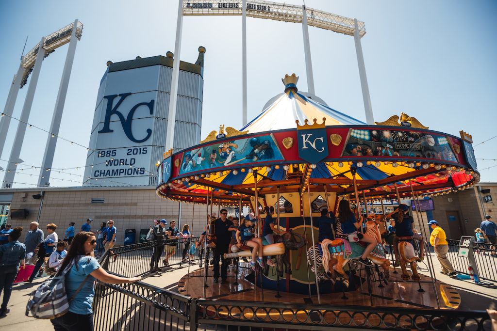 Carousel at the Kansas City Royals' Outfield Experience