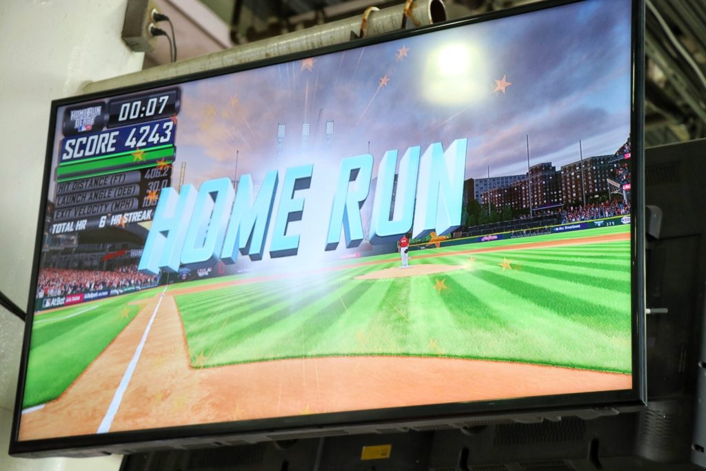 VR home run derby game at progressive field in cleveland is a fun thing to do with kids