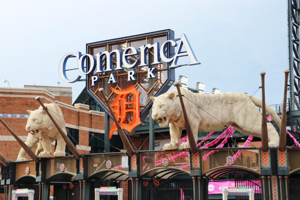 Seeing a Detroit Tigers game at Comerica Park with your kids