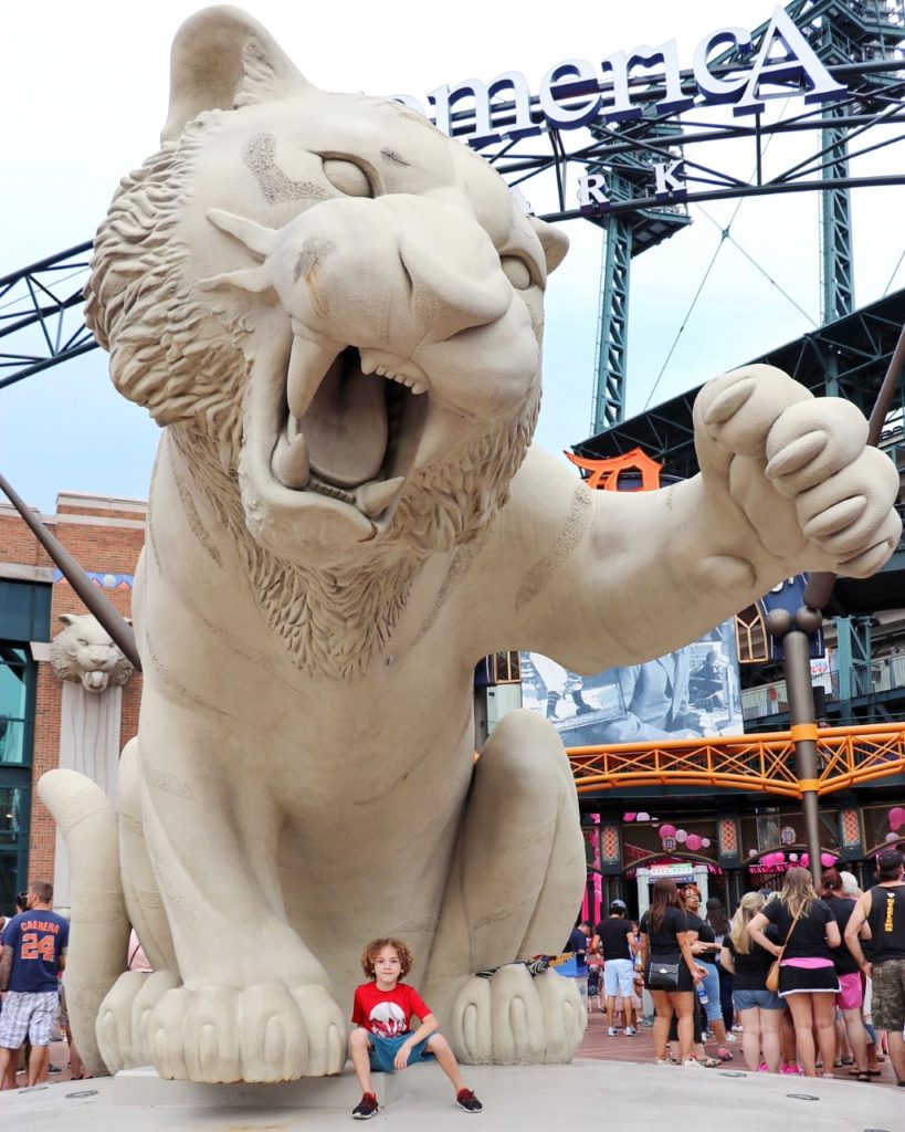 Taking your kids to a Detroit Tigers game at Comerica Park