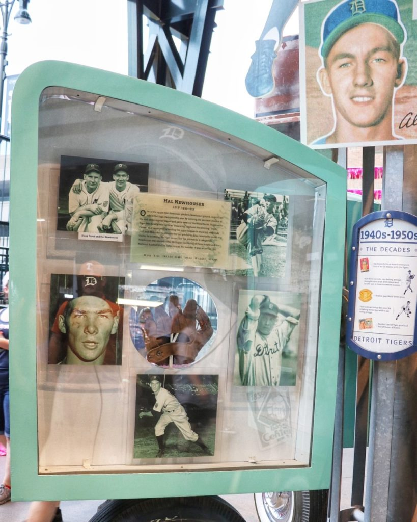 detroit tigers history at the pedestrian museum at comerica park