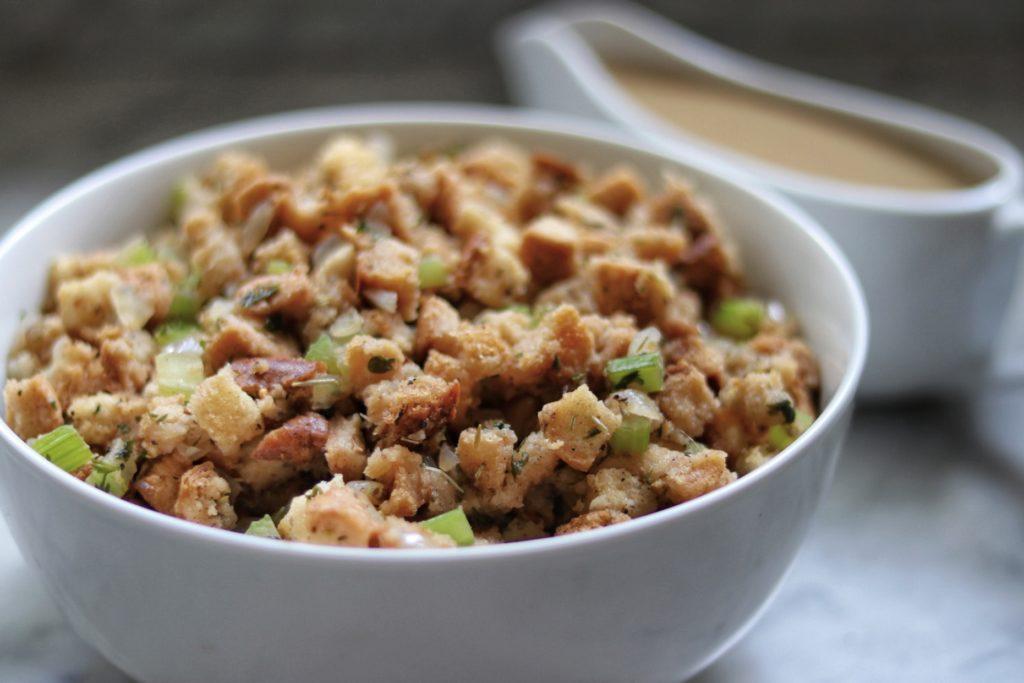 Vegan Gluten Free Stuffing recipe for a plan-based thanksgiving