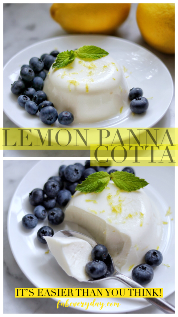 Lemon Panna Cotta with Blueberries recipe