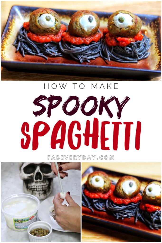Easy Halloween food ideas: Spooky Spaghetti