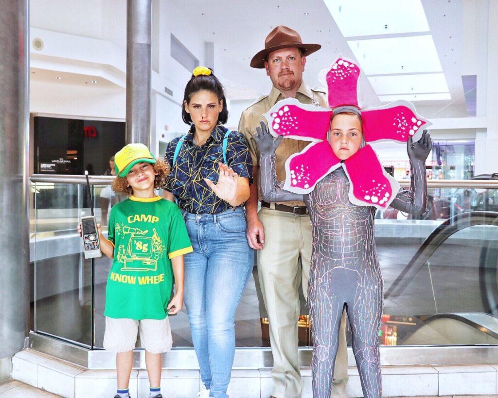 DIY Stranger Things 3 Family Halloween Costumes