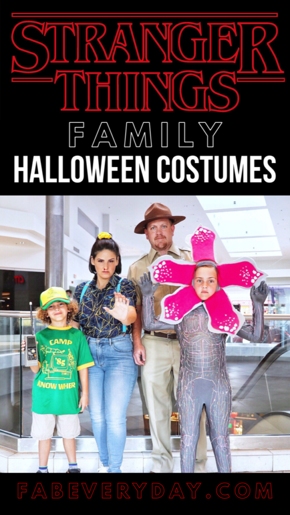 DIY Stranger Things Family Halloween Costumes